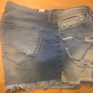 Kancan high-waisted distressed shorts